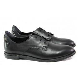 Дамски ортопедични обувки от естествена кожа ТЯ 152 черен | Равни дамски обувки | MES.BG