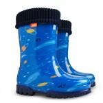 Детски ботуши с топъл свалящ се чорап Demar 0038 космос 20/27 | Гумени ботуши |MES.BG
