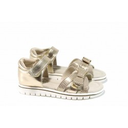 Анатомични детски сандали АБ 17028 злато 26/30 | Детски чехли и сандали | MES.BG