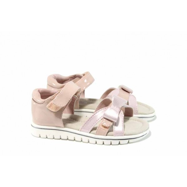 Анатомични бебешки сандали АБ 17028 розов 21/25 | Детски чехли и сандали | MES.BG