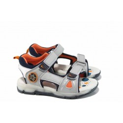 Анатомични светещи сандали АБ 700613 сив 25/30 | Детски чехли и сандали | MES.BG