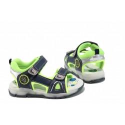 Анатомични светещи сандали АБ 700613 син 25/30 | Детски чехли и сандали | MES.BG