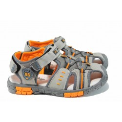 Анатомични детски сандали АБ 93607 сив 31/36 | Детски чехли и сандали | MES.BG