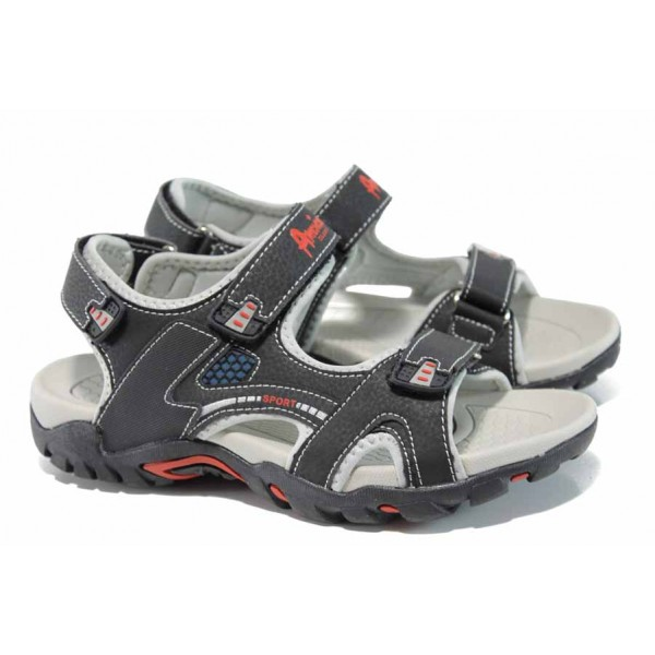 Анатомични детски сандали АБ 1622 черен 32/36 | Детски чехли и сандали | MES.BG