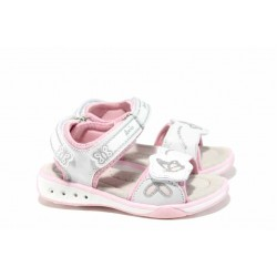 Анатомични детски сандали с LED светлина АБ 1367 бял 26/30 | Детски чехли и сандали | MES.BG