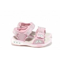 Анатомични детски сандали с LED светлина АБ 1367 розов 26/30 | Детски чехли и сандали | MES.BG