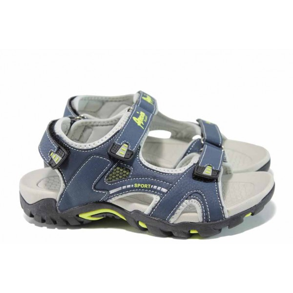 Анатомични детски сандали АБ 1622 син 32/36 | Детски чехли и сандали | MES.BG