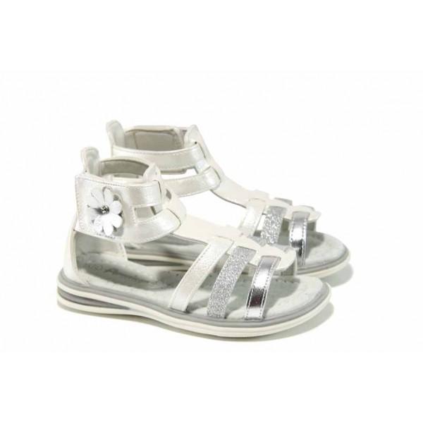 Анатомични детски сандали АБ 7017-12785 сребро 25/30 | Детски сандали | MES.BG