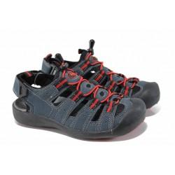 Детски сандали на комфортно ходило АБ 21010 син 32/36 | Детски сандали | MES.BG