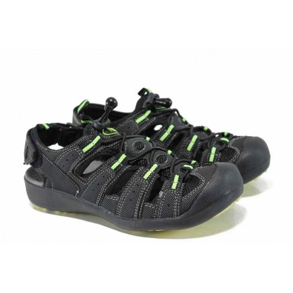 Детски сандали на комфортно ходило АБ 21010 черен 32/36 | Детски сандали | MES.BG