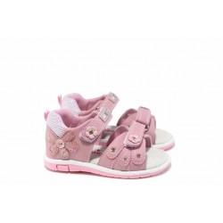 Анатомични бебешки сандали АБ 87285 розов 20/25 | Детски чехли и сандали | MES.BG