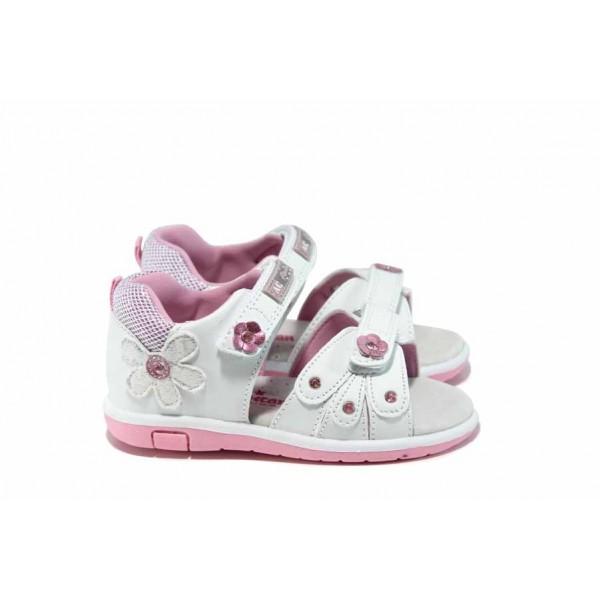 Анатомични бебешки сандали АБ 87285 бял 20/25 | Детски чехли и сандали | MES.BG