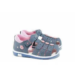 Анатомични бебешки сандали АБ 87291 син 21/26 | Детски чехли и сандали | MES.BG