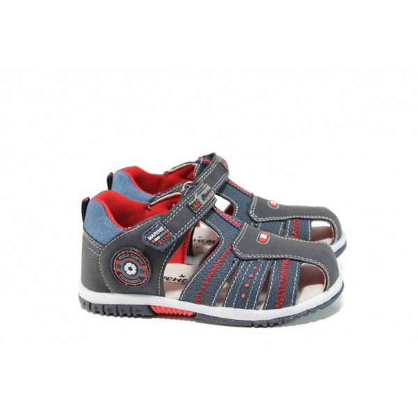 Анатомични бебешки сандали АБ 87290 син 21/26 | Детски чехли и сандали | MES.BG