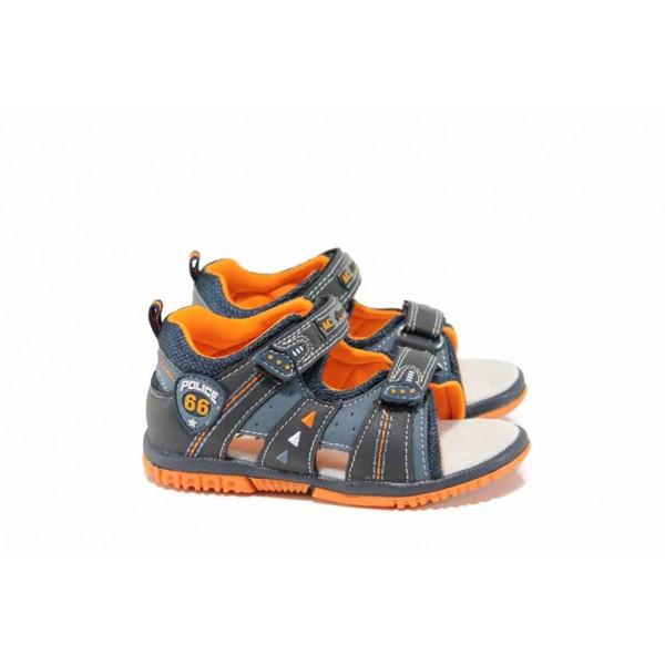 Анатомични бебешки сандали АБ 87296 син 21/26 | Детски чехли и сандали | MES.BG