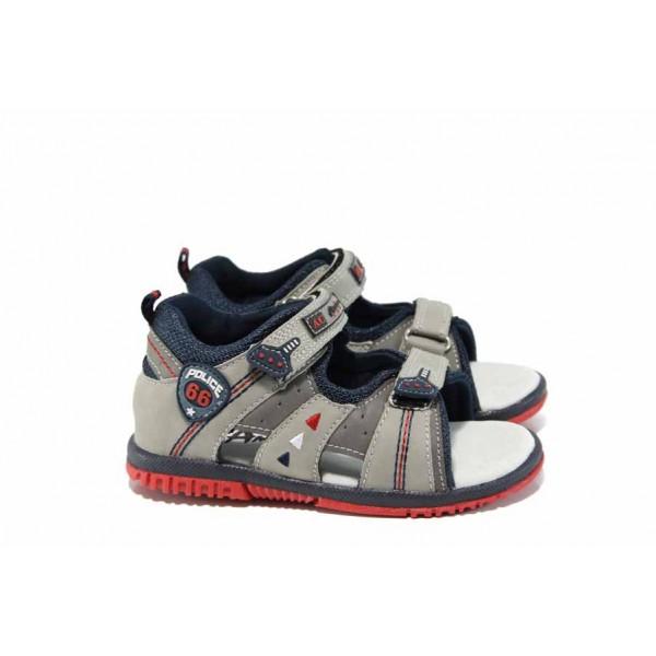 Анатомични бебешки сандали АБ 87296 сив 21/26 | Детски чехли и сандали | MES.BG