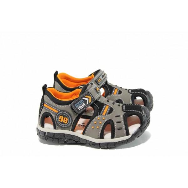 Анатомични детски сандали АБ 93594 сив 25/30 | Детски сандали | MES.BG