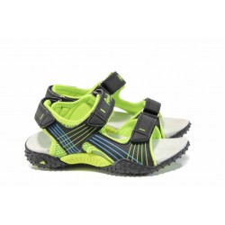 Анатомични детски сандали АБ 5261 черен-зелен 27/31 | Детски сандали | MES.BG