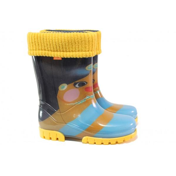 Детски ботуши с топъл свалящ се чорап Demar 0039 момиче 28/35 | Гумени ботуши |MES.BG