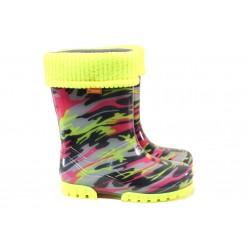 Детски ботуши с топъл свалящ се чорап Demar 0035 мозайка 28/35 | Гумени ботуши |MES.BG