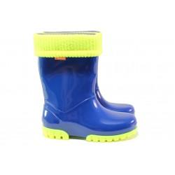 Детски ботуши с топъл свалящ се чорап Demar 0035 син 28/35 | Гумени ботуши |MES.BG