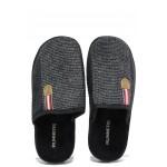 Анатомични мъжки чехли Runners 182-170284 черен | Домашни чехли | MES.BG