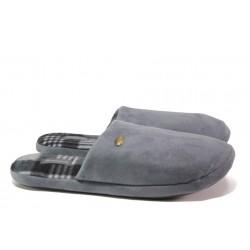 Анатомични мъжки чехли Runners 162-44321 сив-гигант | Домашни чехли | MES.BG