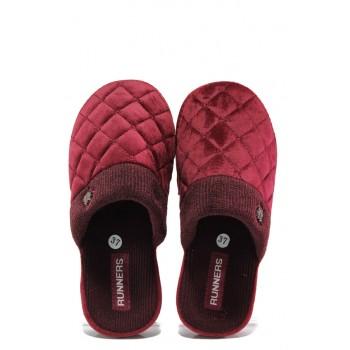 Анатомични дамски чехли РС 182-150136 бордо | Домашни чехли | MES.BG