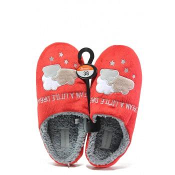 Анатомични дамски чехли РС 182-2 червен | Домашни чехли | MES.BG