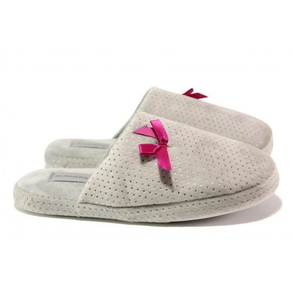 Анатомични дамски чехли Runners 182-809 сив | Домашни чехли | MES.BG