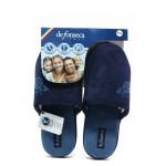 Анатомични дамски чехли Defonseca ROMA TOP W412 т.син | Домашни чехли | MES.BG