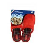 Анатомични дамски чехли ДФ BARI TOP W416 червен | Домашни чехли | MES.BG