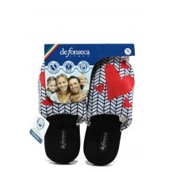 Анатомични дамски чехли Defonseca ROMA TOP W432 сив сърца | Домашни чехли | MES.BG