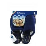Анатомични дамски чехли Defonseca BARI TOP W416 т.син | Домашни чехли | MES.BG