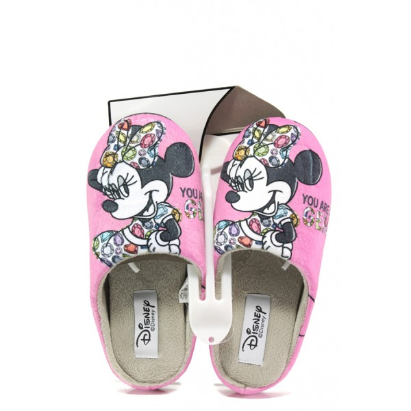 Анатомични дамски чехли с мемори пяна ДФ TORINO W470 розов Disney | Домашни чехли | MES.BG