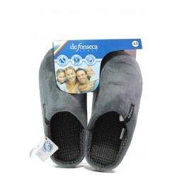Анатомични мъжки чехли ДФ FIRENZE M401 сив | Домашни чехли | MES.BG