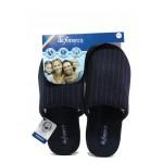 Анатомични мъжки чехли Defonseca ROMA TOP M405 т.син райе| Домашни чехли | MES.BG