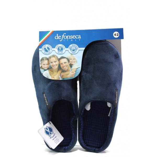 Анатомични мъжки чехли Defonseca FIRENZE M401 т.син | Домашни чехли | MES.BG