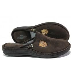 Анатомични мъжки чехли Spesita 397 кафяв | Домашни чехли | MES.BG