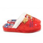 Анатомични дамски чехли Runners 182-130216 червен | Домашни чехли | MES.BG