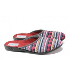 Анатомични дамски чехли с Bio ходило МА 23556 сив-бордо | Домашни чехли | MES.BG