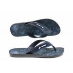 Анатомични мъжки чехли между пръстите Rider 11073 черен-син | Бразилски чехли | MES.BG