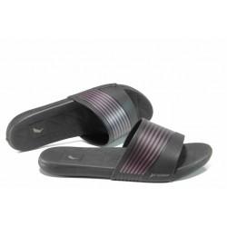 Анатомични дамски чехли с мемори пяна Rider 82207 черен-розов | Бразилски чехли и сандали | MES.BG