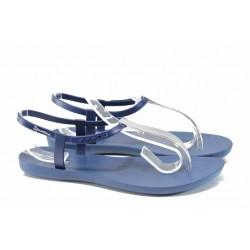 Равни дамски сандали Ipanema 82283 син-сребро | Бразилски чехли и сандали | MES.BG