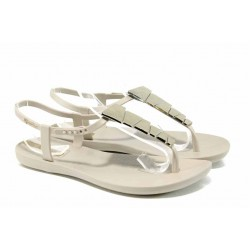 Равни дамски сандали Ipanema 82283 бежов | Бразилски чехли и сандали | MES.BG