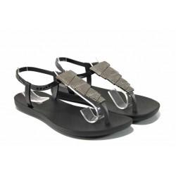 Равни дамски сандали Ipanema 82283 черен | Бразилски чехли и сандали | MES.BG