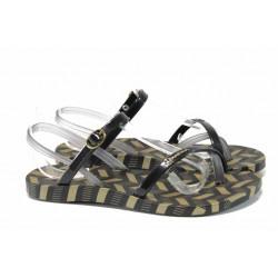 Анатомични дамски сандали Ipanema 82291 черен-сив | Бразилски чехли и сандали | MES.BG