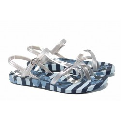 Анатомични дамски сандали Ipanema 82291 син сребро | Бразилски чехли и сандали | MES.BG