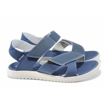 Анатомични мъжки сандали с мемори пяна Rider 82224 сив-син   Бразилски чехли и сандали   MES.BG