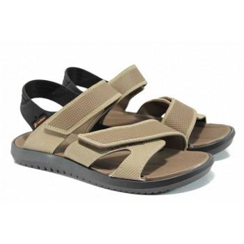 Анатомични мъжки сандали с мемори пяна Rider 82224 черен-бежов   Бразилски чехли и сандали   MES.BG